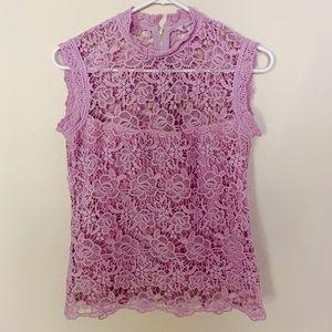 Nanette Nanette Lepore Crochet Lace Top